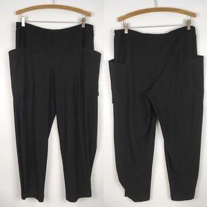 EILEEN FISHER | lagenlook button crop pants 0375